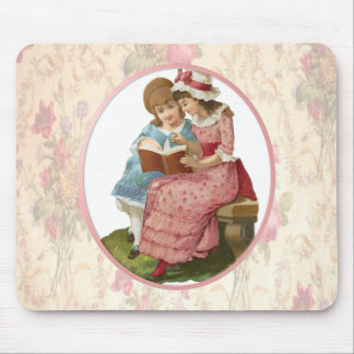 Girls Reading Mouse Pad