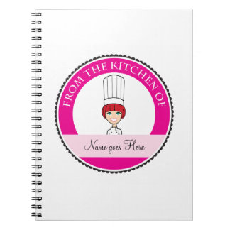 Girl's Recipe Notebook Personalized #3