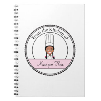 Girl's Recipe Notebook Personalized #4b