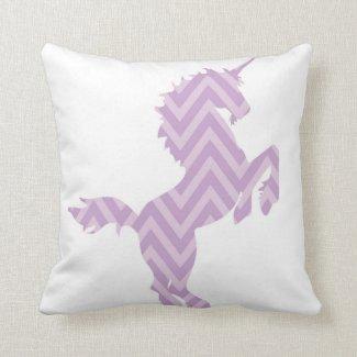 Girls Reversible Purple Unicorn Pillow