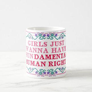 girls rights fun 11 oz magic heat Color-Changing coffee mug