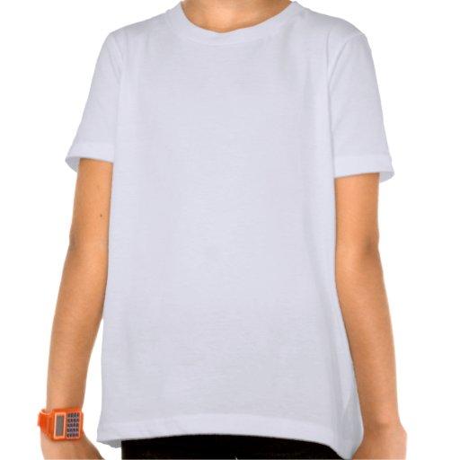 Girl's Ringer T-Shirt, blk & white, Happy Face Dog T-shirts