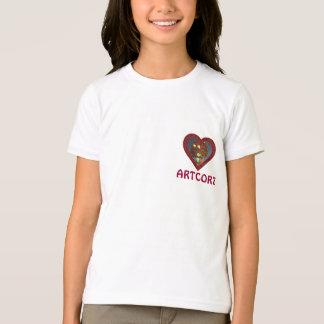 GIRLS RINGER T-SHIT - COOL HEART T-Shirt