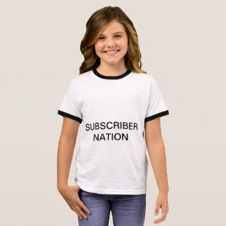 GIRLS  Ringers Subscriber Nation T-shirt