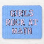 Girls Rock At Math Mouse Pad