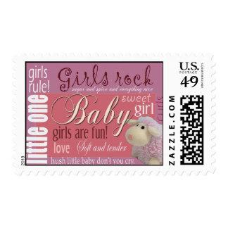 Girls rock - baby shower postage