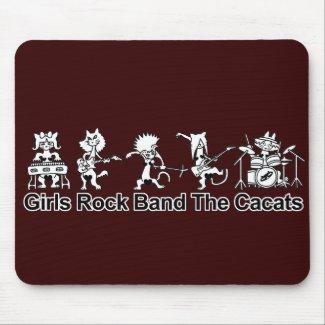 Girls Rock Band zazzle_mousepad
