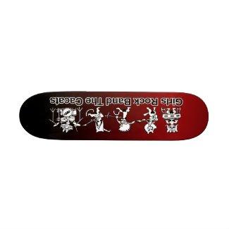 Girls Rock Band zazzle_skateboard