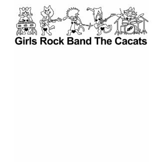 Girls Rock Band zazzle_shirt