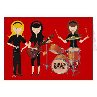 Girls Rock Birthday Card