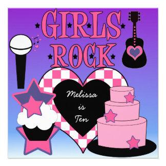 Girls Rock Birthday Invitation