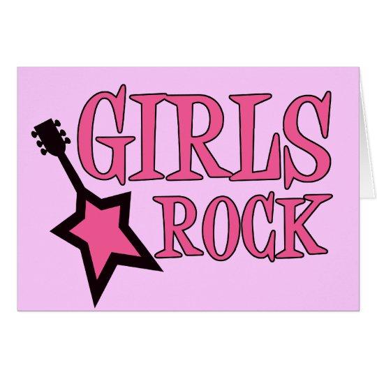 Girls Rock! Card