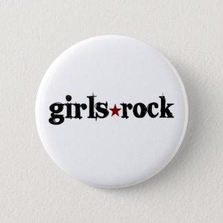 Girls Rock Pinback Button