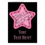 Girls Rock Pink Star Cards