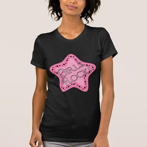 Girls Rock Pink Star Shirts