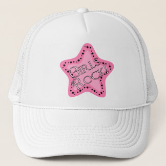 Girls Rock Pink Star Trucker Hat
