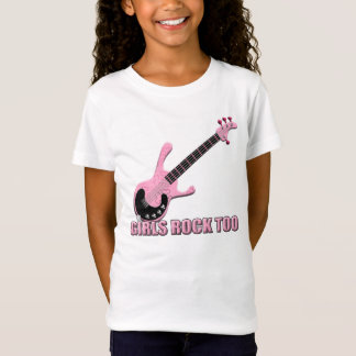 Girls Rock Too - Girls Baby Doll (Fitted) T-Shirt