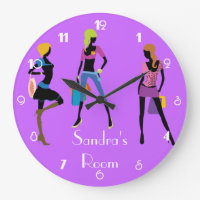 Girl's Room Large Clock