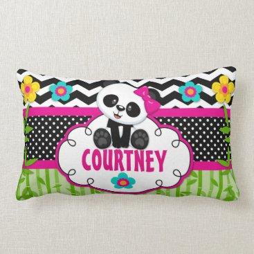 TiffsSweetDesigns Girls Room Panda Bear Personalized Pillow