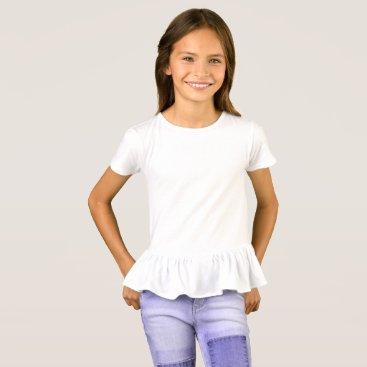 Beach Themed Girls' Ruffle T-Shirt