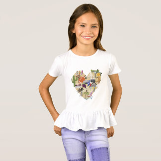 Girls Ruffle Texas Tee