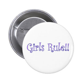 Girls Rule! 2 Inch Round Button