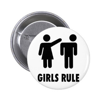 Girls Rule 2 Inch Round Button
