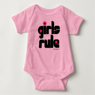 Girls Rule baby   T Shirt