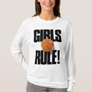 GIRLS RULE! Basketball T-Shirt