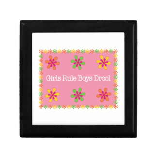 Girls Rule Boys Drool Keepsake Box