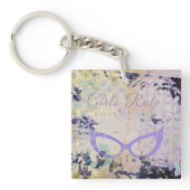 Girl's Rule Boys Drool Keychain