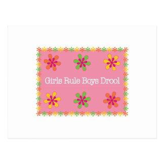Girls Rule Boys Drool Postcard