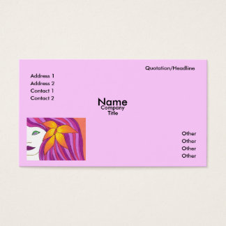 Girls Rule Business Card Template