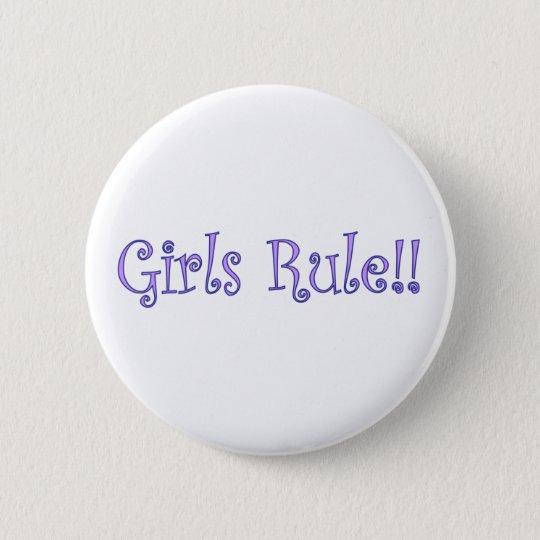 Girls Rule! Button