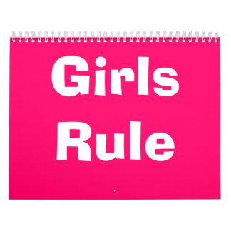 Girls Rule Calender Calendar