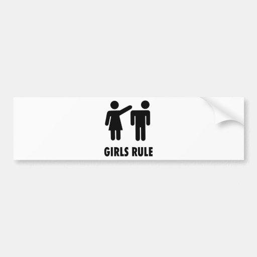 Girls Rule Car Bumper Sticker