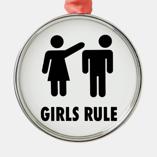Girls Rule Christmas Ornaments