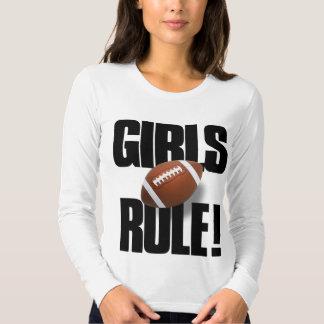 GIRLS RULE! Football Tee Shirt