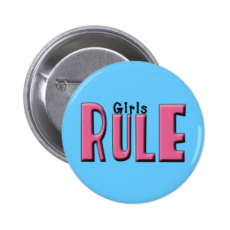 Girls Rule Gifts and Tees for Women and Girls 2 Inch Round Button