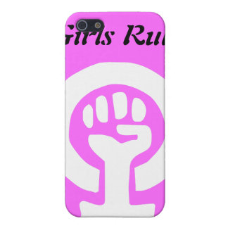 Girls Rule Girlpower Feminism Symbol Case For iPhone SE/5/5s