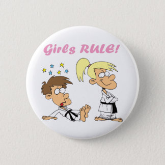Girls-Rule-judo Pinback Button