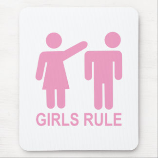 Girls Rule Mouse Pad