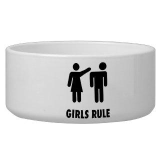 Girls Rule Dog Water Bowl