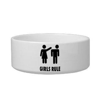 Girls Rule Cat Food Bowls