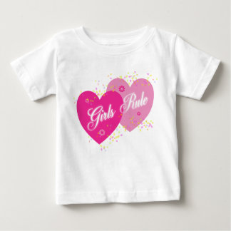 Girls Rule Pink Hearts  Infant T Shirt