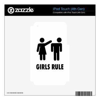 Girls Rule Print Skins For iPod Touch 4G