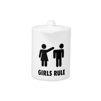 Girls Rule Print Teapot