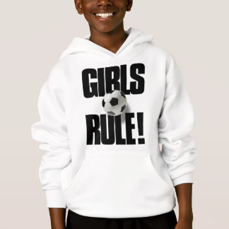 GIRLS RULE! Soccer Hoodie
