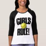 GIRLS RULE! Softball T-shirts