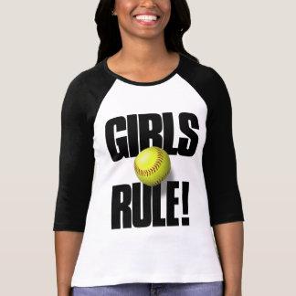 GIRLS RULE! Softball Tee Shirt